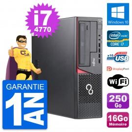 PC Fujitsu Esprimo E720 DT Intel i7-4770 RAM 16Go Disque 250Go Windows 10 Wifi