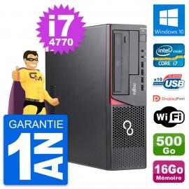 PC Fujitsu Esprimo E720 DT Intel i7-4770 RAM 16Go Disque 500Go Windows 10 Wifi