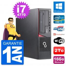 PC Fujitsu Esprimo E720 DT Intel i7-4770 RAM 16Go Disque Dur 2To Windows 10 Wifi
