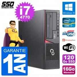 PC Fujitsu Esprimo E720 E85+ DT Intel i7-4770 RAM 16Go SSD 120Go Windows 10 Wifi