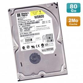 "Disque Dur 80Go IDE ATA 3.5"" Western Digital Caviar Blue WD800AB 5400RPM 2Mo"