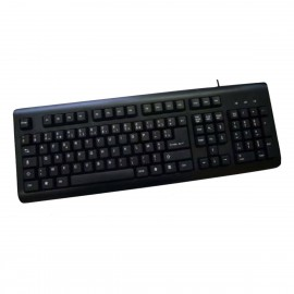 Clavier PC AZERTY USB HEDEN CLAUSBCA00 MXPCA14-001 108 touches Noir