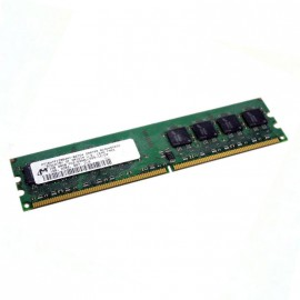 1Go RAM MICRON MT16HTF12864AY-667D4 240-Pin DIMM DDR2 PC2-5300U 667Mhz 2Rx8 CL5