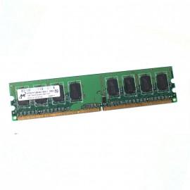 1Go RAM MICRON MT8HTF12864AY-800J1 240-Pin DIMM DDR2 PC2-6400U 800Mhz 1Rx8 CL6