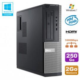 PC DELL Optiplex 3010 DT Intel G2020 2.9Ghz 2Go 250Go DVD HDMI Win 7