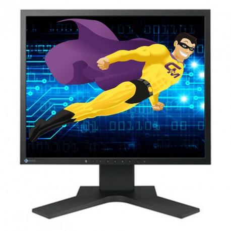 "Ecran Plat PC 17"" EIZO S1701 LCD 1280x1024 5:4 SlimEdge VGA DVI-D"