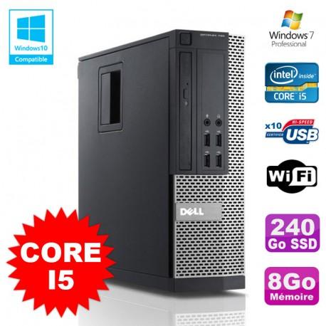 PC DELL Optiplex 790 SFF Intel Core I5 3,1Ghz 8Go Disque 240Go SSD WIFI W7 Pro