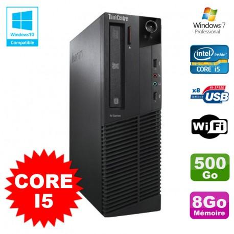 PC Lenovo M91p 7005 SFF Intel Core I5 3,1Ghz 8Go Disque 500Go WIFI W7 Pro
