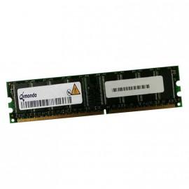 512Mo RAM QIMONDA HYS64D64300EU-5-D 184-Pin DIMM DDR PC-3200U 400Mhz 1Rx8 CL3