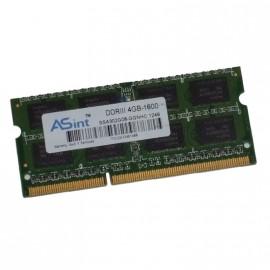 4Go RAM PC Portable SODIMM ASint SSA302G08-GGNHC DDR3 PC3-8500S 2Rx8 1066MHz CL7
