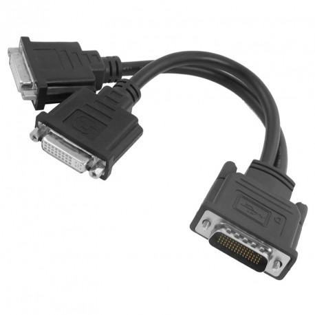 Câble doubleur DMS-59 vers 2x Sorties Ecrans DVI Carte Graphique Dual Screen