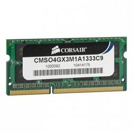 4Go RAM PC Portable SODIMM Corsair CMSO4GX3M1A1333C9 DDR3 PC3-10600S 1333MHz