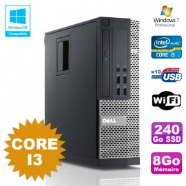 PC Dell Optiplex 7010 SFF Core I3 3.1GHz 8Go 240Go SSD DVD Wifi W7