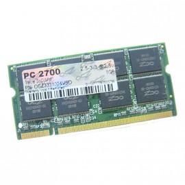 1Go RAM PC Portable SODIMM OCZ OCZ3331024VSO 200-PIN DDR PC-2700S 333MHz CL2.5
