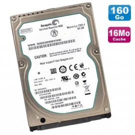 "Disque Dur 160Go SATA 2.5"" Seagate ST9160412AS 7200RPM 16Mo Momentus Pc Portable"