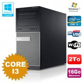 PC Tour Dell Optiplex 790 Intel Core I3 3.1Ghz 16Go 2To DVD WIFI Win 7