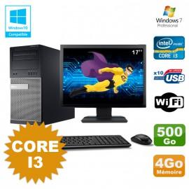 """Lot PC Tour Dell 790 Intel Core I3 3.1Ghz 4Go 500Go DVD WIFI Win 7 + Ecran 17"""""""
