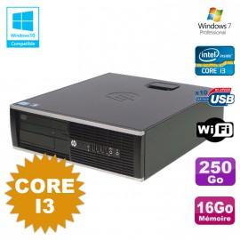 PC HP Compaq 6200 Pro SFF Core i3 3.1GHz 16Go Disque 250Go DVD WIFI W7 Pro