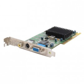 Carte Graphique Ati Radeon R128P2 SD32M 32Mo SDRAM AGP VGA VGI S-Video