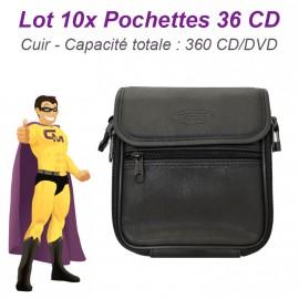 Lot 10x Sacoche Rangement 36 CD (360 CD) Housse DVD Blu-Ray Storage Dj Pro NEUF