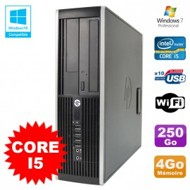 PC HP Elite 8200 SFF Intel Core I5 3.1GHz 4Go Disque 250Go DVD WIFI W7