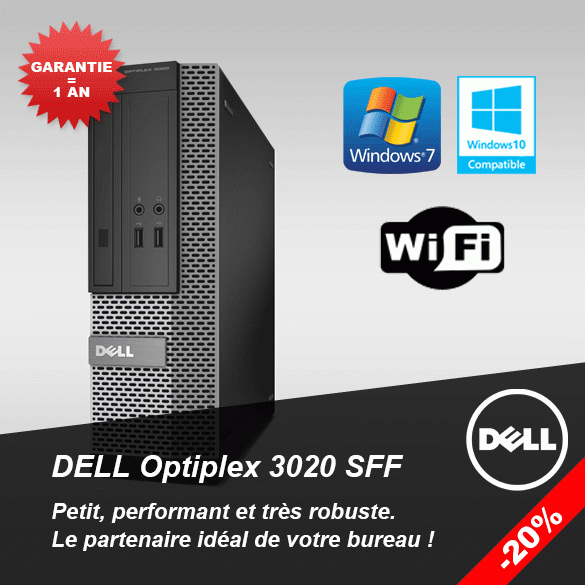 PC Dell Optiplex 3020 SFF -20 % !
