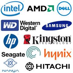 Large choix de grandes marques de composants PC